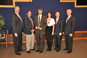 Chairman's Award winner Loren Groff, Ph.D. with the NTSB Board
