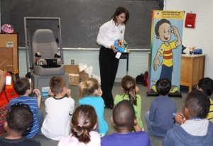 Chairman Hersman speaks to students at William Halley Elementary School