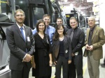 Pitcure of Chairman Hersman and NTSB staff with Prevost employees.