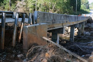 Damaged bridge rural America FEMA