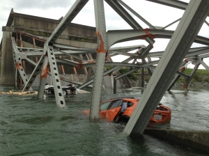 Skagit River bridge collapse in Mt. Vernon, Wash.