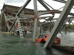 Skagit River bridge collapse in Mt. Vernon, Wash.