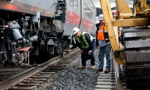 NTSB Investigators at rail accident