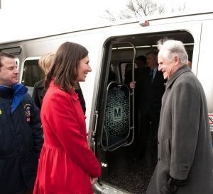 Chairman Hersman at teh unveiling of the WMATA's new 7000 series railcar