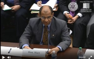 Vice Chairman Hart testifying before the U.S. House of Representatives' Subcommittee on Highways and Transit
