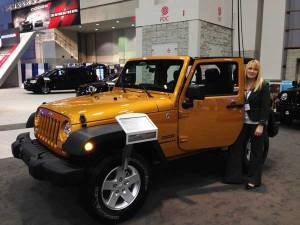 NTSB Vehicle Factors Engineer Jennifer Morrison at the Washington Auto Show