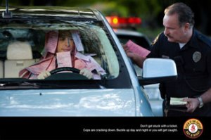 Click it or Ticket campaign poster