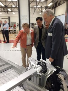 Member Rosekind at the Tesla factory