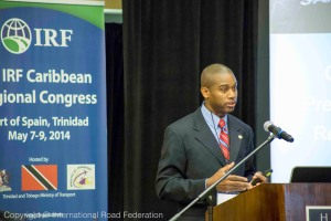 Nicholas Worrel presenting at the IRF Caribbean Regional Congress