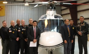 Acting Chairman Hart with the New Mexico State Police Helicopter Squadron