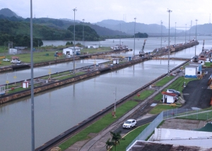 A section of the Panama Canal