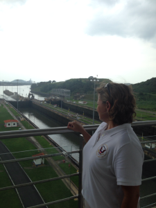 NTSB's Director of the Office of Marine Safety Tracy Murrell at the Panama Canal