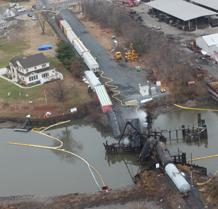 Scene of Paulsborto, NJ derailment