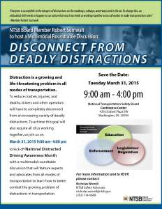 Distraction Roundtable flyer