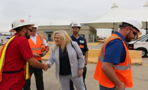 NTSB Chief, Railroad Division Georgetta Gregory at BNSF facility