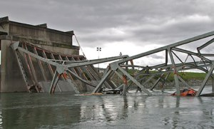 Scene of Bridge Collapse, Mt. Vernon, WA