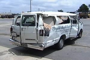 Photo of the accident van.