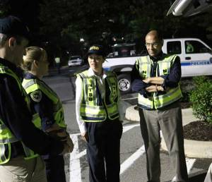 Photo of Chairman Hart and Vice Chairman Dinh-Zarr at a  sobriety checkpoint