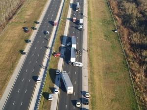 Accident scene in Paynes Praire, FL