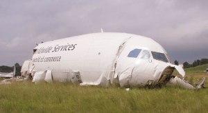 Image of crashed UPS cargo flight in Birmingham, AL
