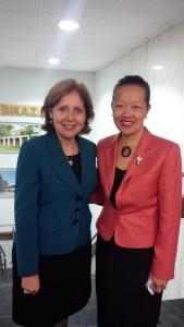 Dinh-Zarr with U.S. Ambassador to Brazil Ayalde