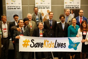 Dinh-Zarr with members of Safe Kids Worldwide
