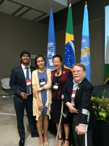 Dinh-Zarr (second from right) with delegates from Spain and the UK