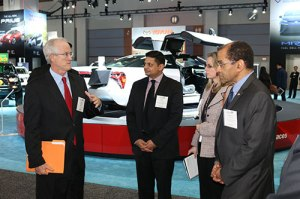 Chairman Hart and NTSB staff at the 2016 Washington Auto Show