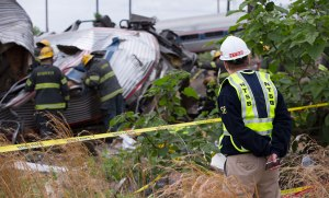 Member Sumwalt on scene of the Amtrak 188 accident
