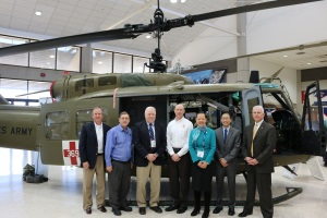 Vice Chairman (center, in blue) and Aviation Safety investigators and staff, from L-R, Ralph Hicks, Jeff Kennedy, Jim Silliman, Van McKenny, Chihoon Shin, and Clint Johnson.
