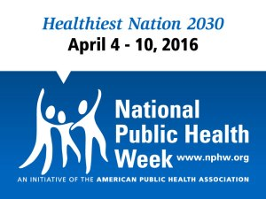 National Public health Week poster