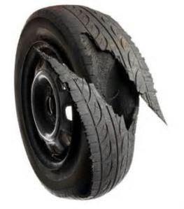Tire tread separation