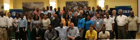 NTSB's Nicholas Worrell (bottom row, far left) with IRF Caribbean Regional Congress attendees.