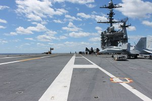 Flight deck of the USS George Washington (CVN-73)