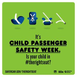 Graphic for Child Passenger Safety Week