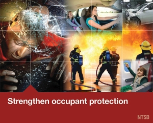 Image collage for strengthen occupant protection Most Wanted List Issue.