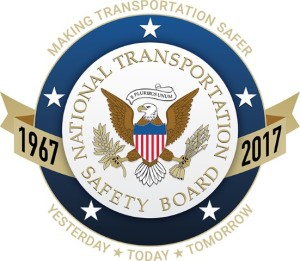 NTSB 50th Anniversary commemerative emblem