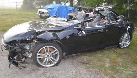 2015 Tesla Model S 70D car involved in the May 7, 2016, Williston, Florida crash