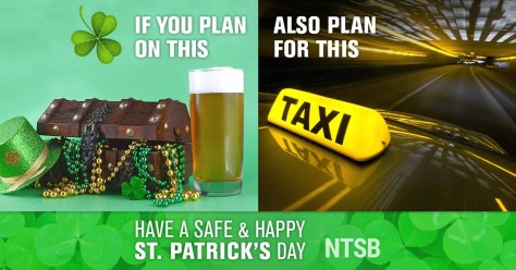 St. Patricks Day Impaired Driving Image