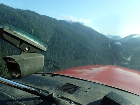 Flying to Young Lake near the accident site