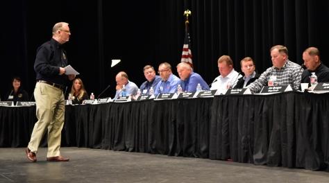 Chairman addresses panel about risk management