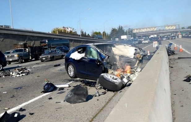 March 23, 2018, crash of a Tesla in Mountain View, California